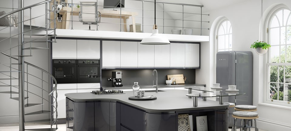 ... Modern Fitted Kitchens   Fusion Gloss Amthracite By English Rose  Kitchens ...