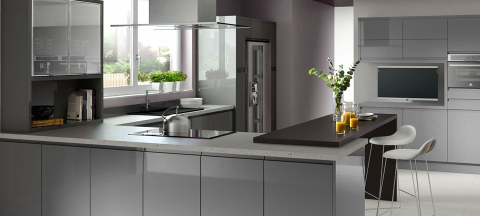 Fitted Kitchens Kitchen Appliances Adams Tebb Kitchens - Grey fitted kitchens